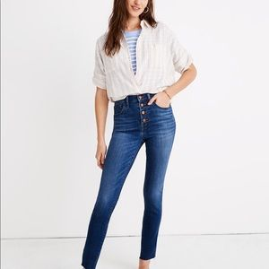"Madewell 10"" High-Rise Skinny Crop Jeans"